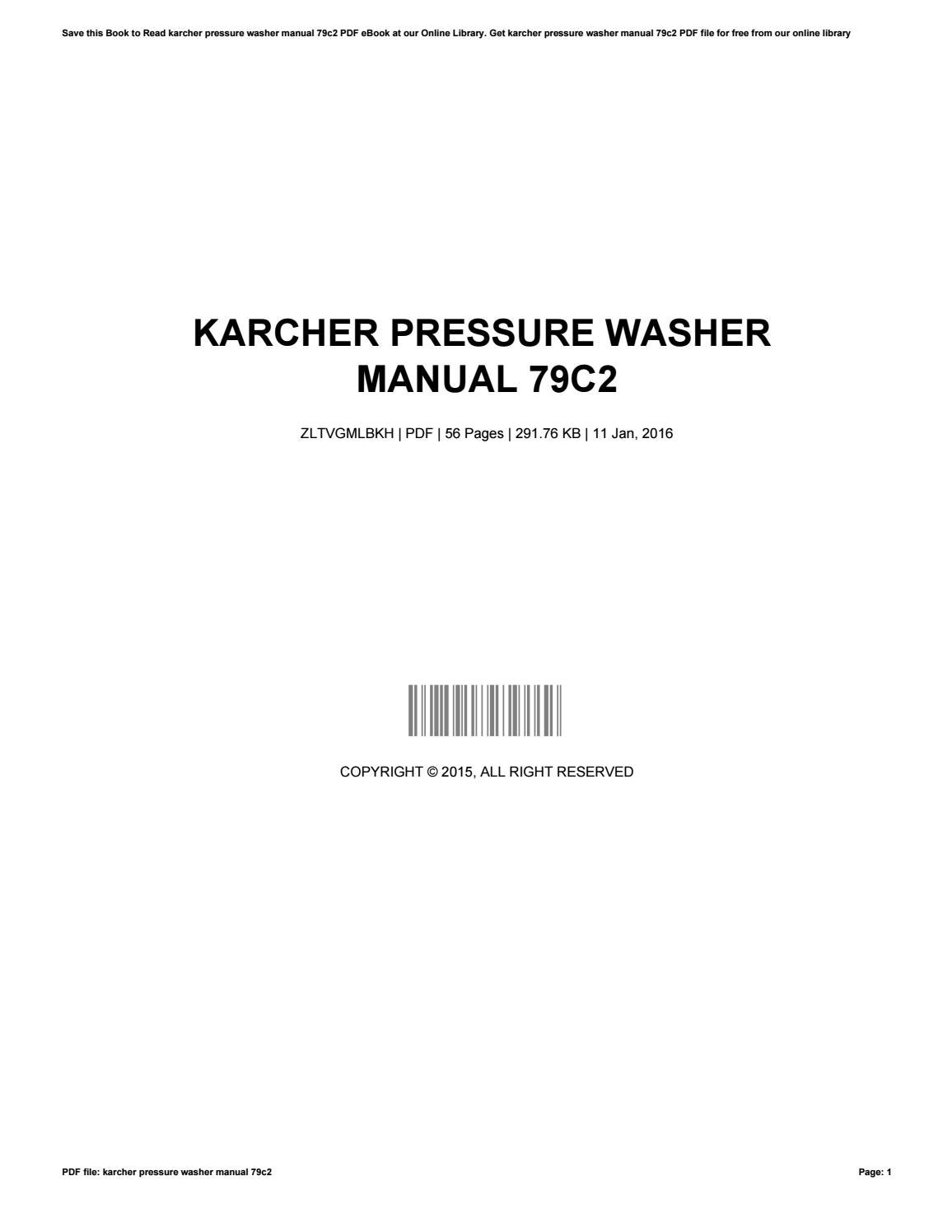 Karcher Pressure Washer Instructions Manual Ebook Catcafemad Hds 580 Wiring Diagram Save This Book To Read