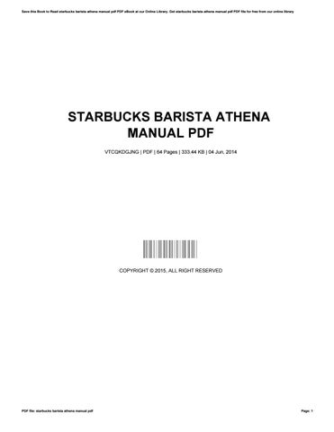 starbucks barista athena manual pdf by jasonorellana3341 issuu rh issuu com Starbuck Cappiccuno Machine Starbucks Coffee Machines for Home