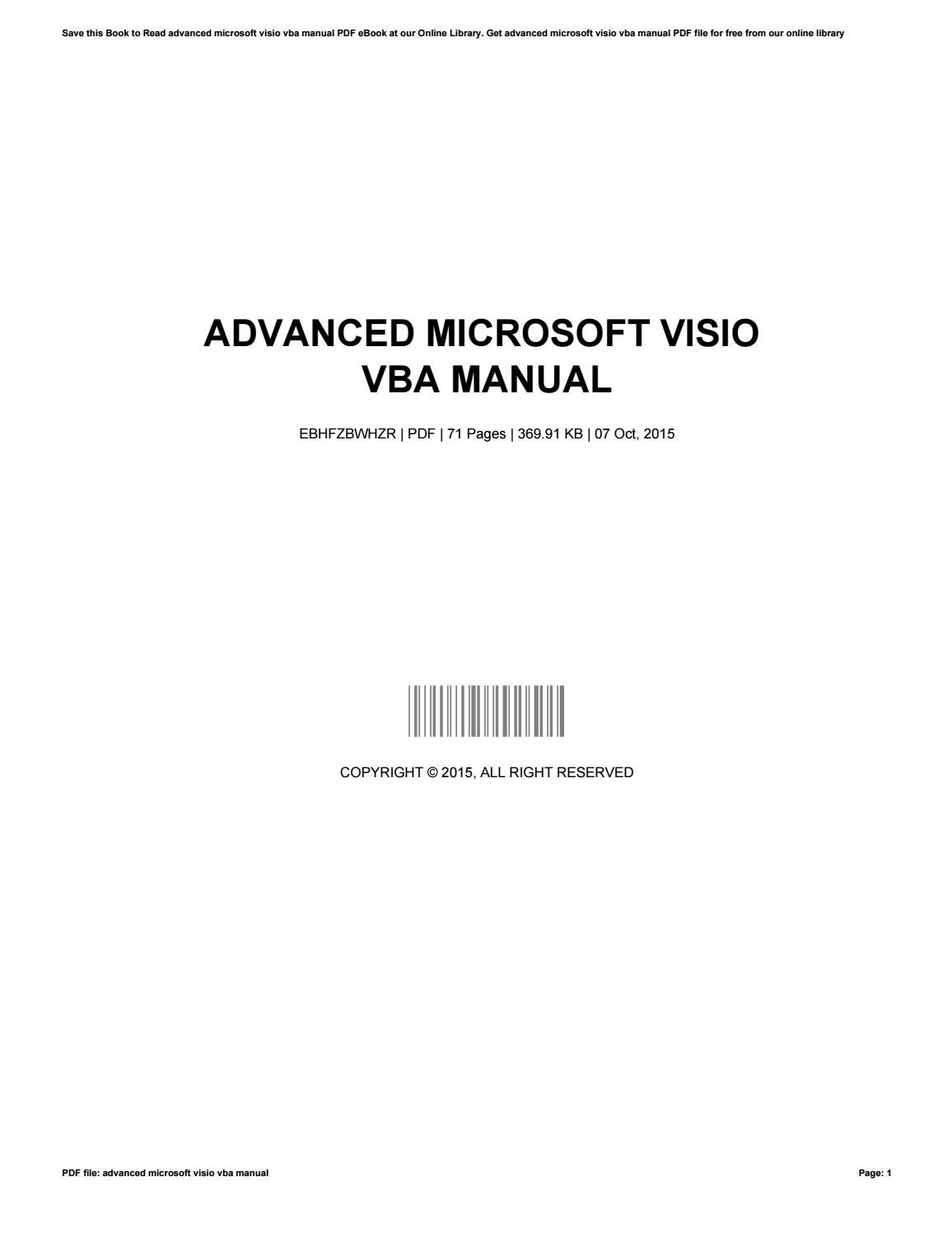 advanced microsoft visio vba manual by patriciamiller2583 issuu - Microsoft Visio Manual