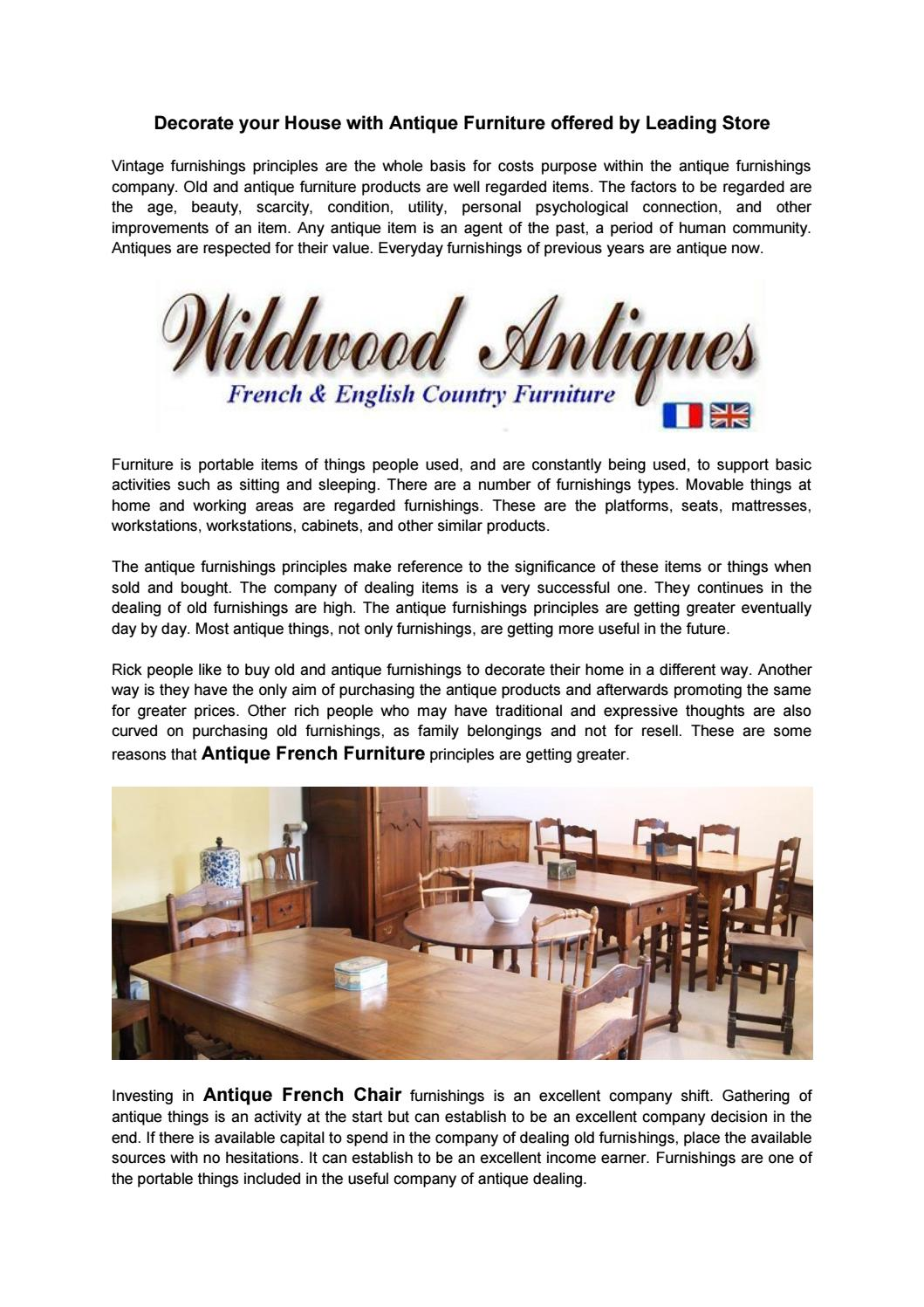Decorate your House with Antique Furniture offered by Leading Store by Liam  Wilson - issuu -. Who Buy ... - Who Buy Antique Furniture Antique Furniture