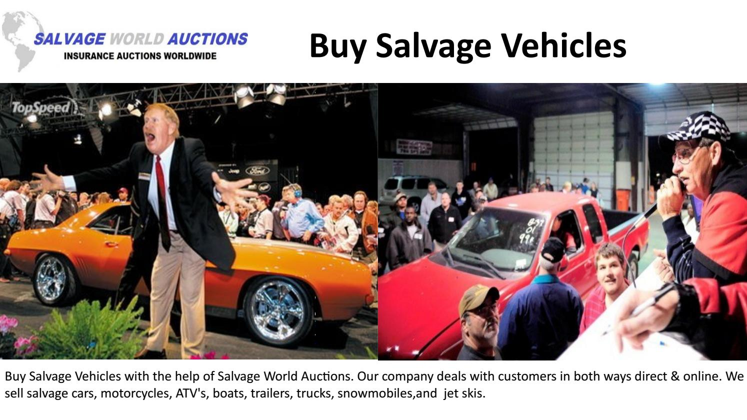 Buy Salvage Vehicles-Slavage world auctions by Salvage World ...