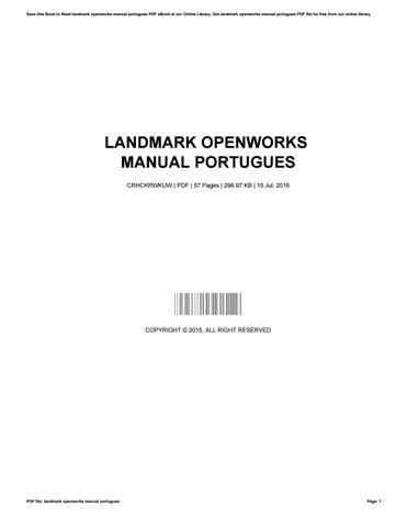 landmark openworks manual portugues by mauricegreen2079 issuu rh issuu com