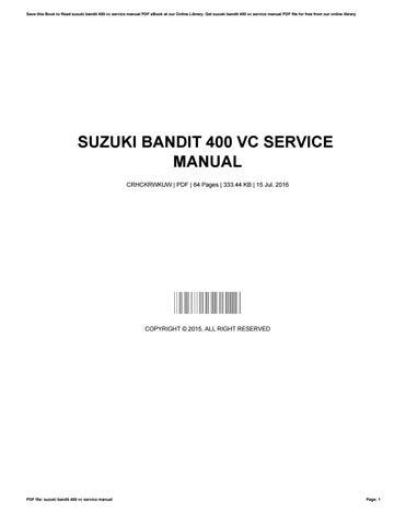 suzuki bandit 250 manual pdf