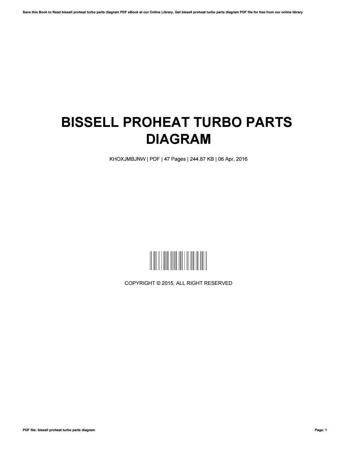 Bissell proheat turbo parts diagram by robertsorensen4116 issuu pooptronica