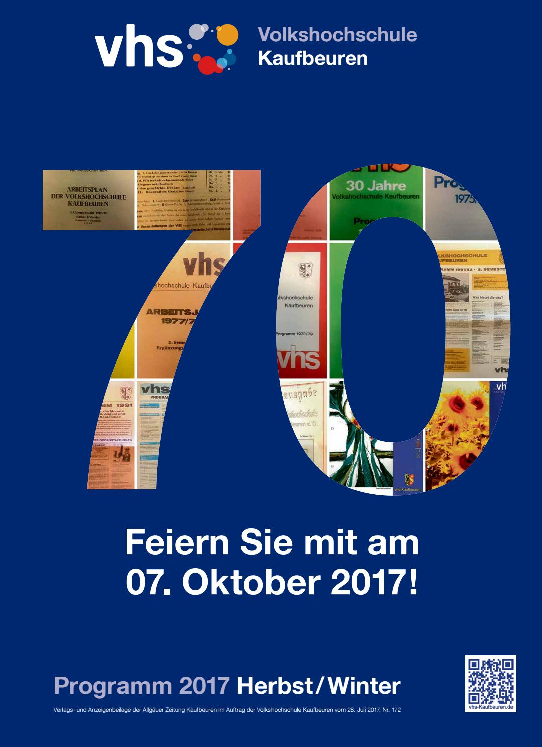 vhs Kaufbeuren Herbst Winter 2017 Programm by Volkshochschule ...
