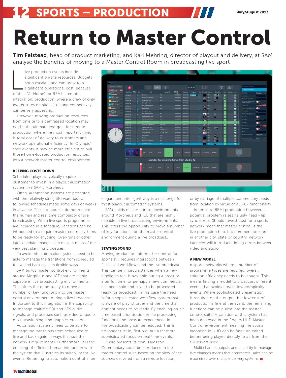 TV Tech Global July/August 2017 by Future PLC - issuu