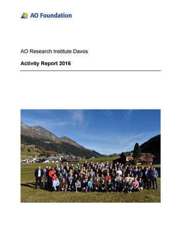ARI Activity Report 2016 by AO Foundation - issuu
