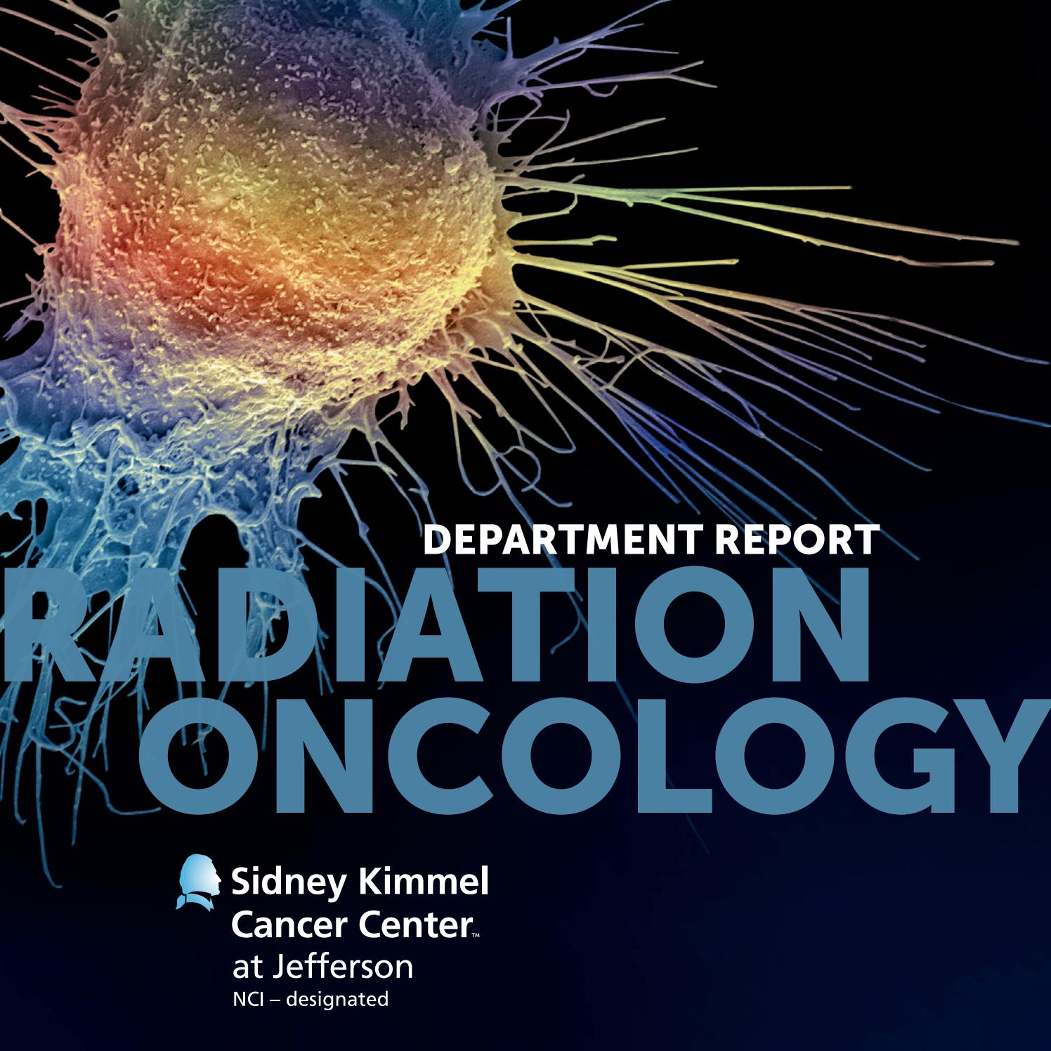Radiation Oncology Department Report by Sidney Kimmel Cancer
