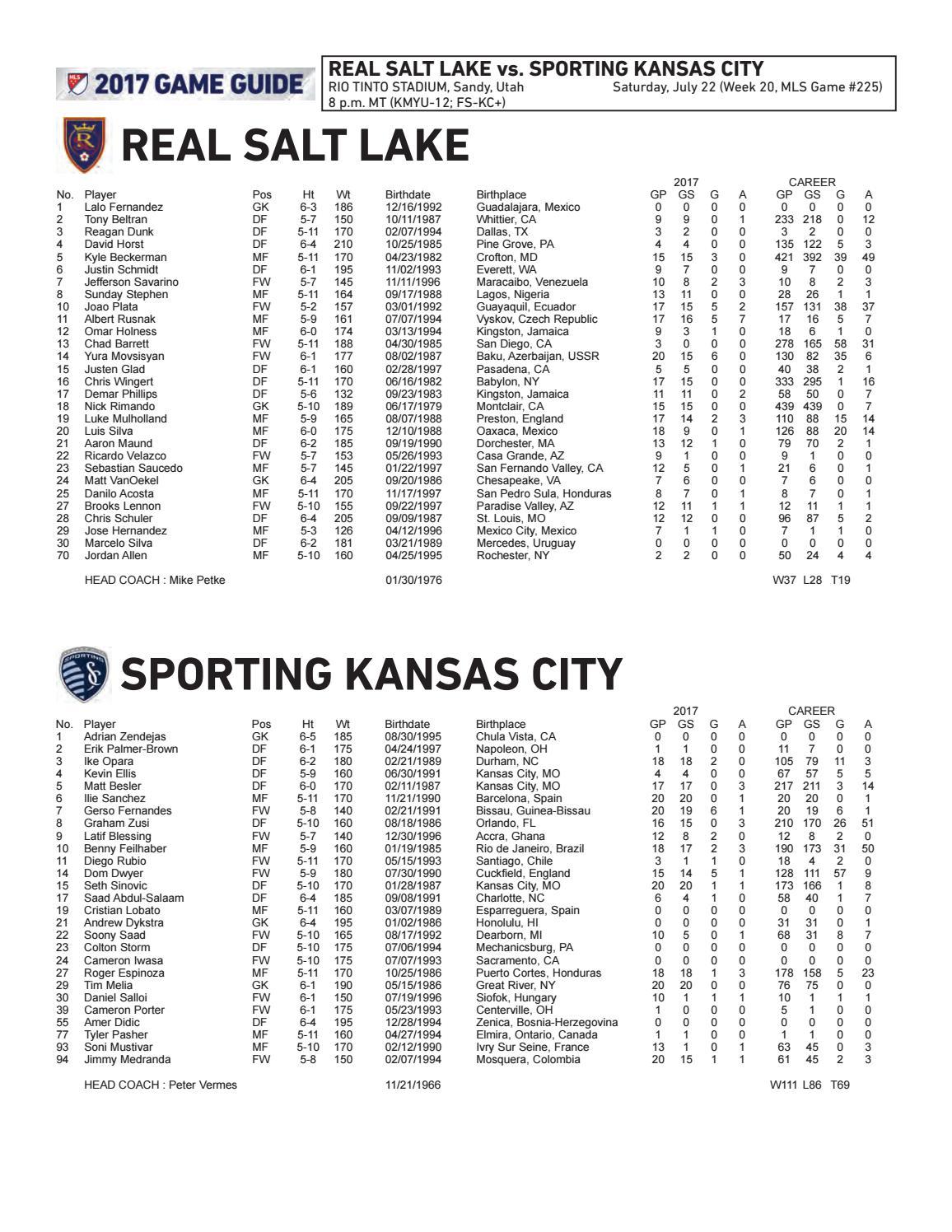 Game Guide: Sporting KC at Real Salt Lake by Sporting Kansas