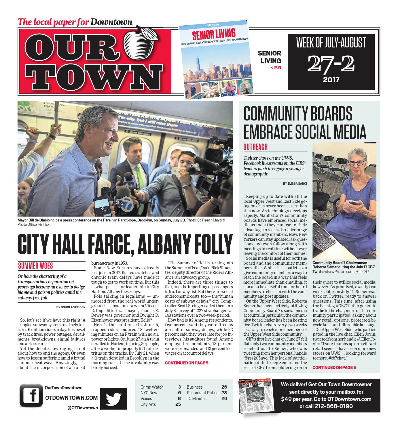 Our Town Downtown July 27 2017 By Ourtown Downtown Issuu