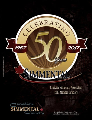 Canadian Simmental Association 2017 Member Directory By