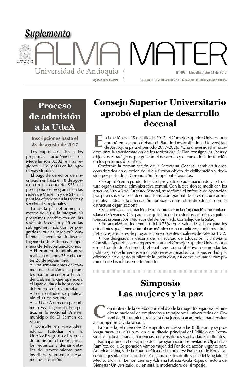 Suplemento AM 493 by Universidad de Antioquia - issuu