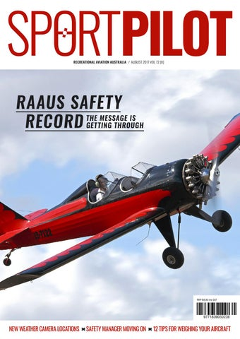 Sport pilot 72 aug 2017 by Recreational Aviation Australia - issuu