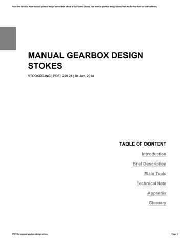 manual gearbox design stokes by michaelrandel1492 issuu rh issuu com