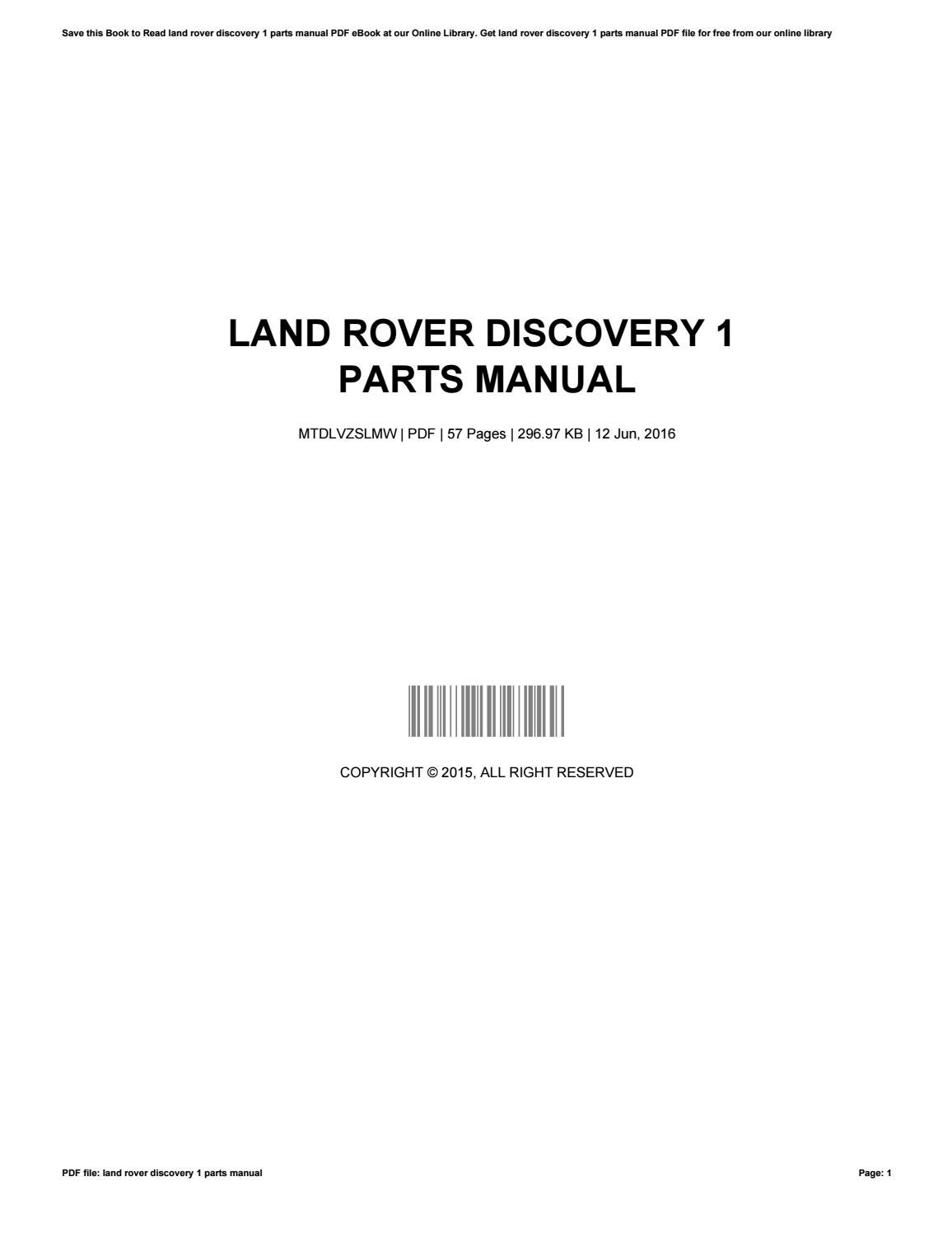 docs issuu by rover page online parts landrover list land