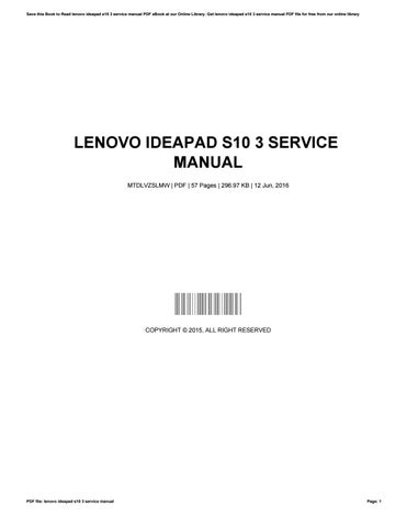 lenovo ideapad s10 3 service manual by jaredroy4935 issuu rh issuu com lenovo ideapad s10e manual lenovo ideapad s10-2 manual pdf