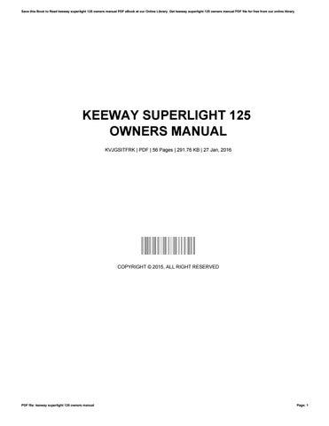 collectivedata.com Manual Haynes for 2009 Keeway Superlight 125 ...