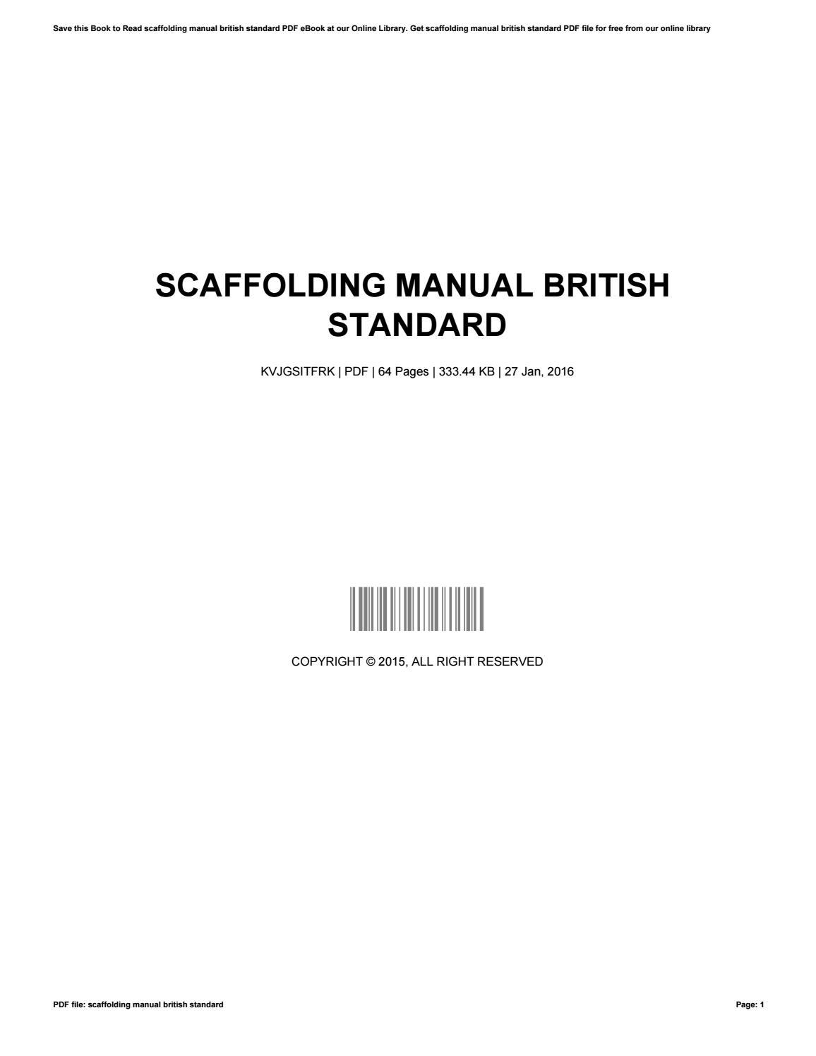 Scaffolding manual british standard by GerdaReagan1554 - issuu