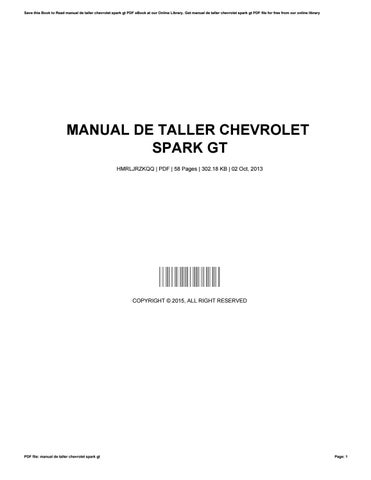 manual de taller chevrolet spark gt by gerdareagan1554 issuu rh issuu com manual spark gt 2014 manual spark gt