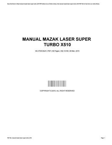manual mazak laser super turbo x510 ebook