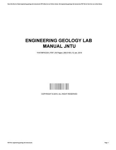 engineering geology lab manual jntu by josephromero4181 issuu rh issuu com Geology Lab Class Physical Geology Lab Manual
