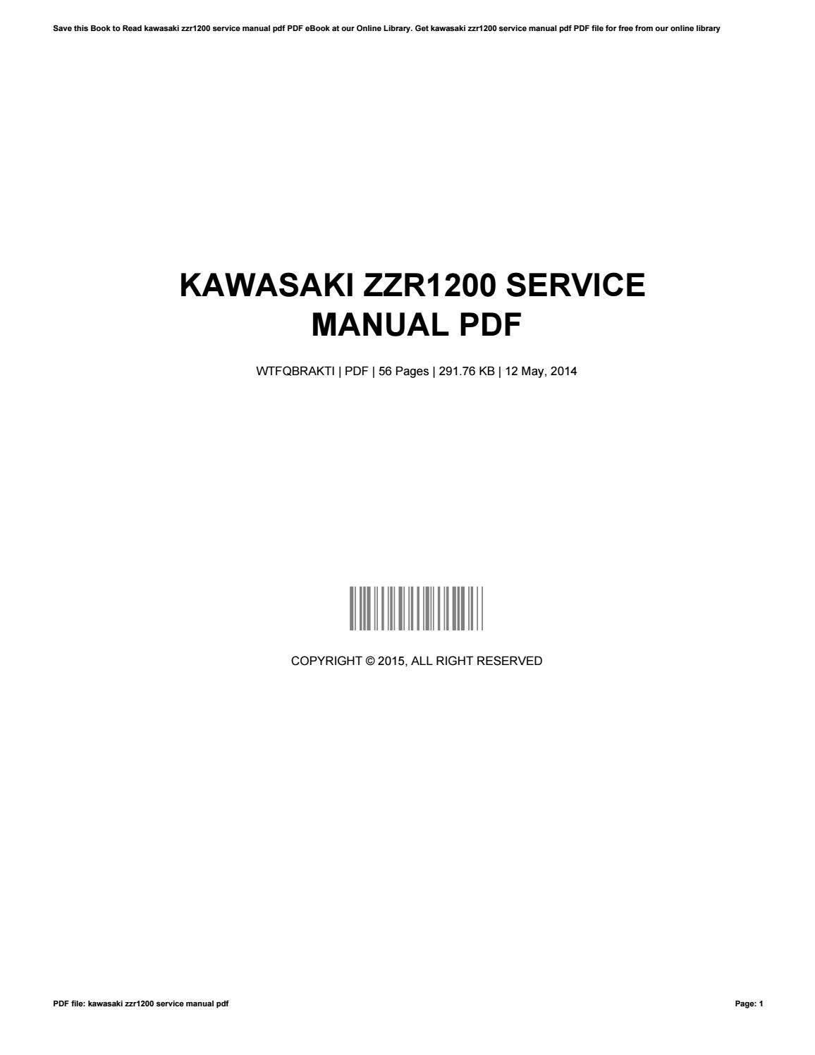Kawasaki Zzr1200 Workshop Manual Zzr 1200 Wiring Diagram Service Pdf By Davidcraft4062 Issuu Rh Com 1100 Download