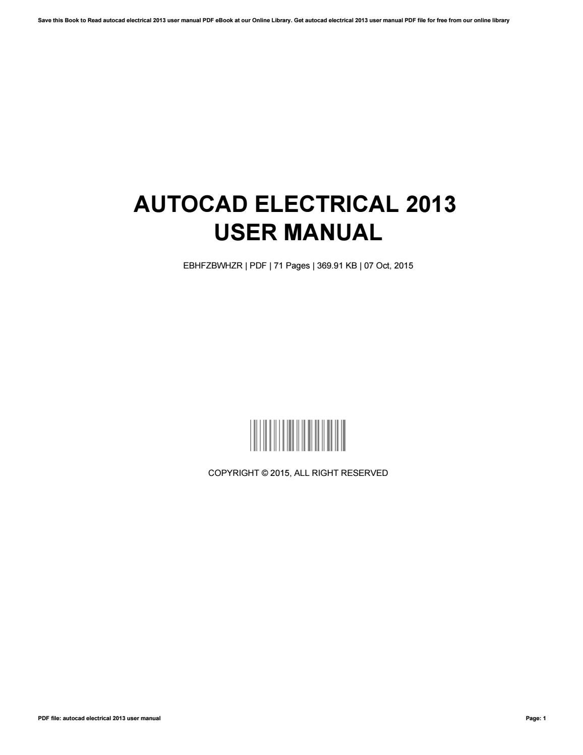 Autocad electrical 2013 user manual by gwendolynsmith2801 issuu baditri Image collections