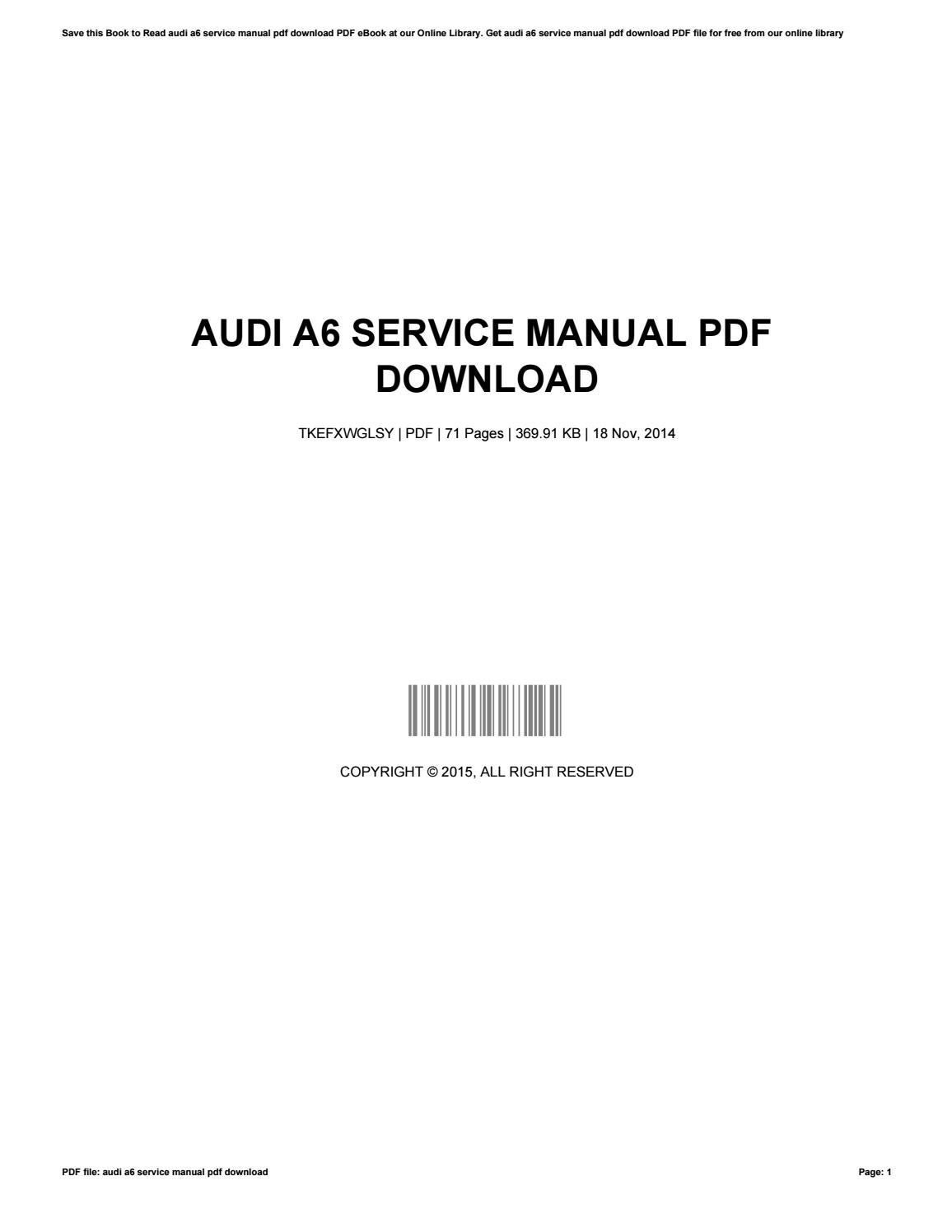 Audi a6 service manual pdf download by charleswallace3585 issuu fandeluxe Choice Image