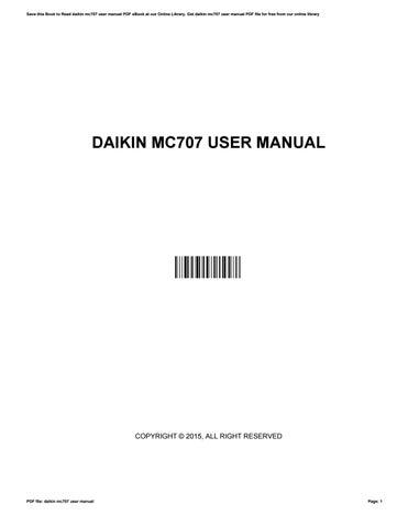daikin mc707 user manual by wesleylamb4850 issuu rh issuu com Daikin Inverter Manual Daikin Troubleshooting