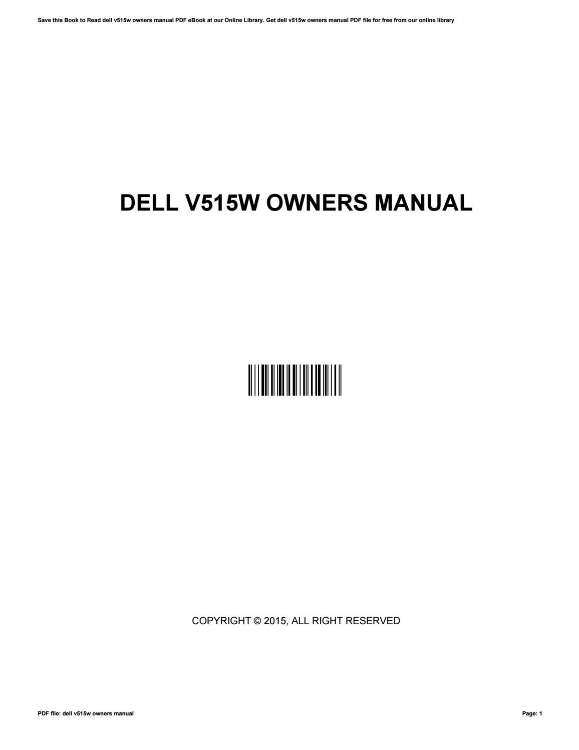 dell v515w owners manual by wesleylamb4850 issuu rh issuu com dell v515w  user manual Dell V313w