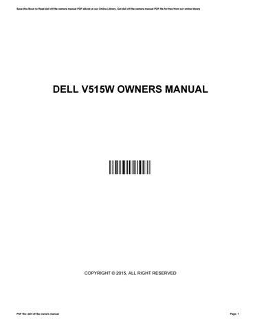 dell v515w owners manual by wesleylamb4850 issuu rh issuu com Dell V515w Ink Cartridges Walmart Dell V515w Wireless Setup