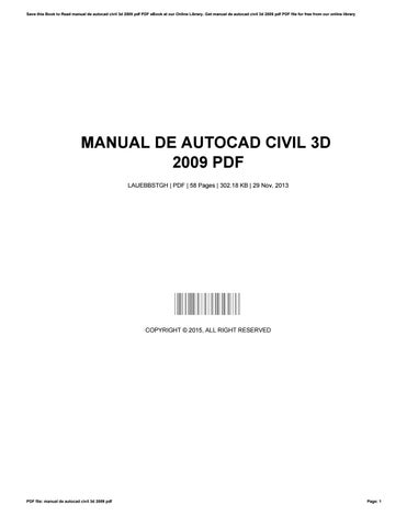 manual de autocad civil 3d 2009 pdf by eunicehuff4326 issuu rh issuu com AutoCAD 2014 User Manual AutoCAD LT Manual