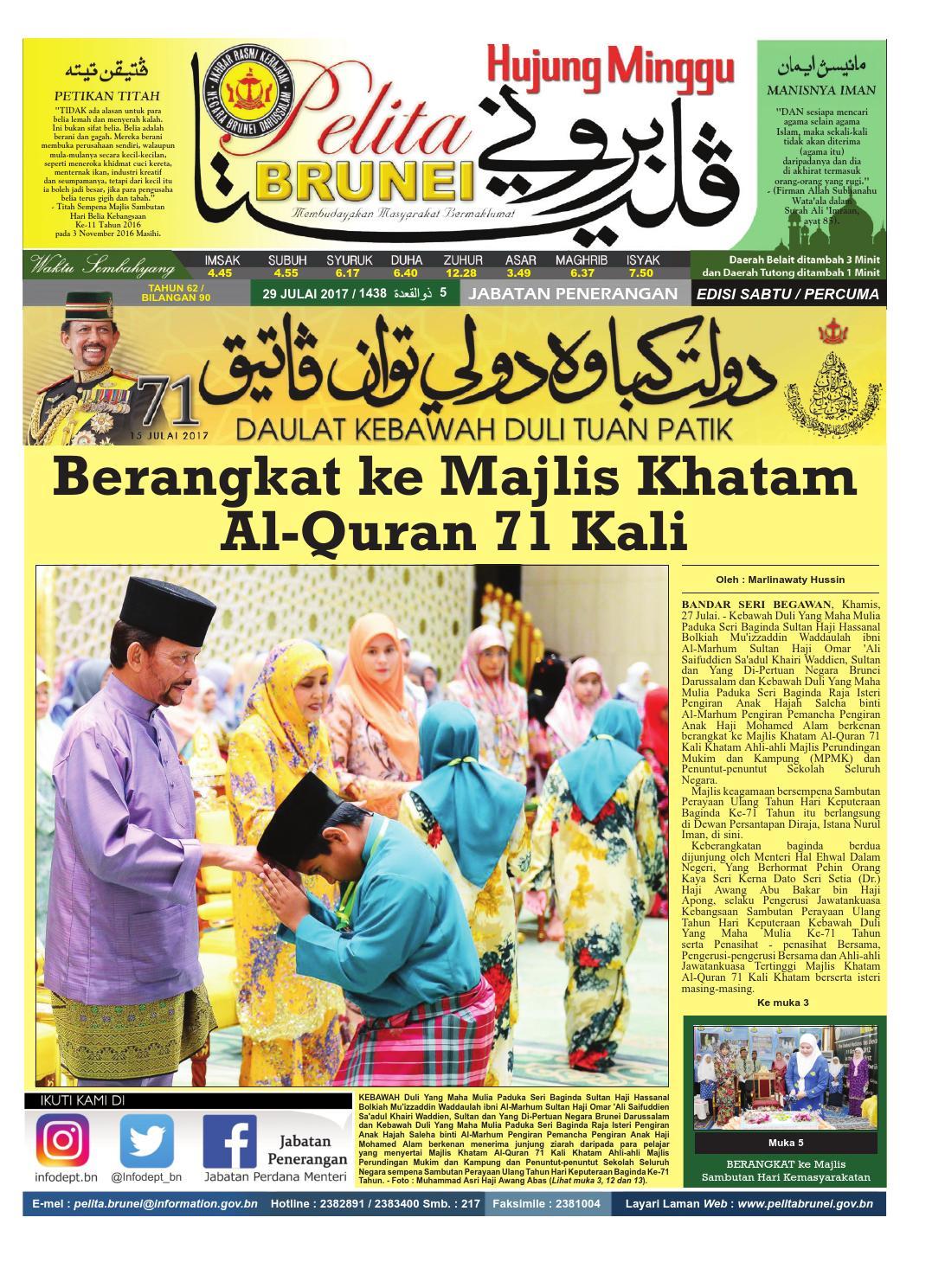 Pelita Brunei Sabtu 29 Julai 2017 By Putera Brunei Issuu