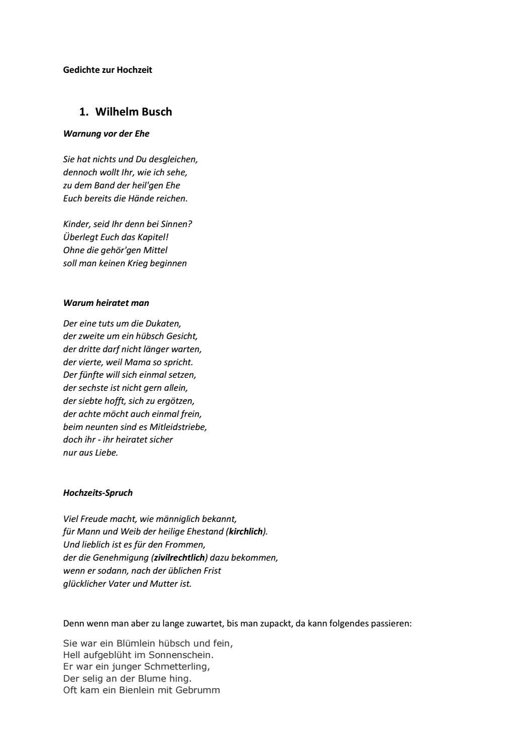 Gedichte Zur Hochzeit By Kruis Klaus Issuu
