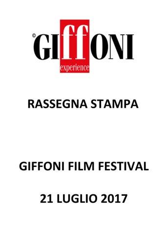 Rassegna Stampa 21 luglio 2017 Giffoni Film Festival by