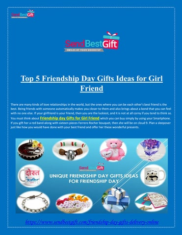 Top 5 Friendship Day Gifts Ideas For Girl Friend By Send