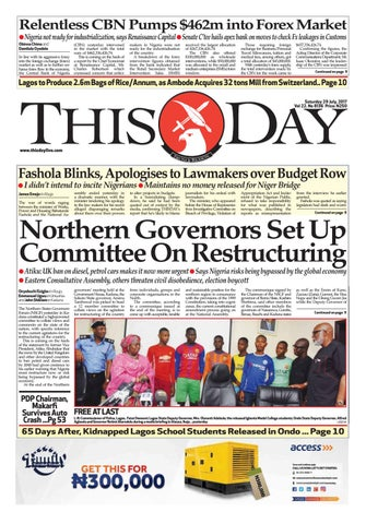 f62c85bec9 Saturday 29th July 2017 by THISDAY Newspapers Ltd - issuu