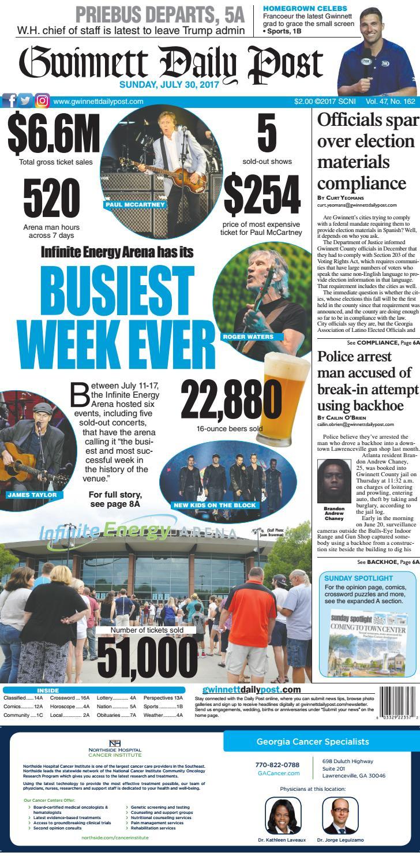 July 30, 2017 — Gwinnett Daily Post by Gwinnett Daily Post - issuu