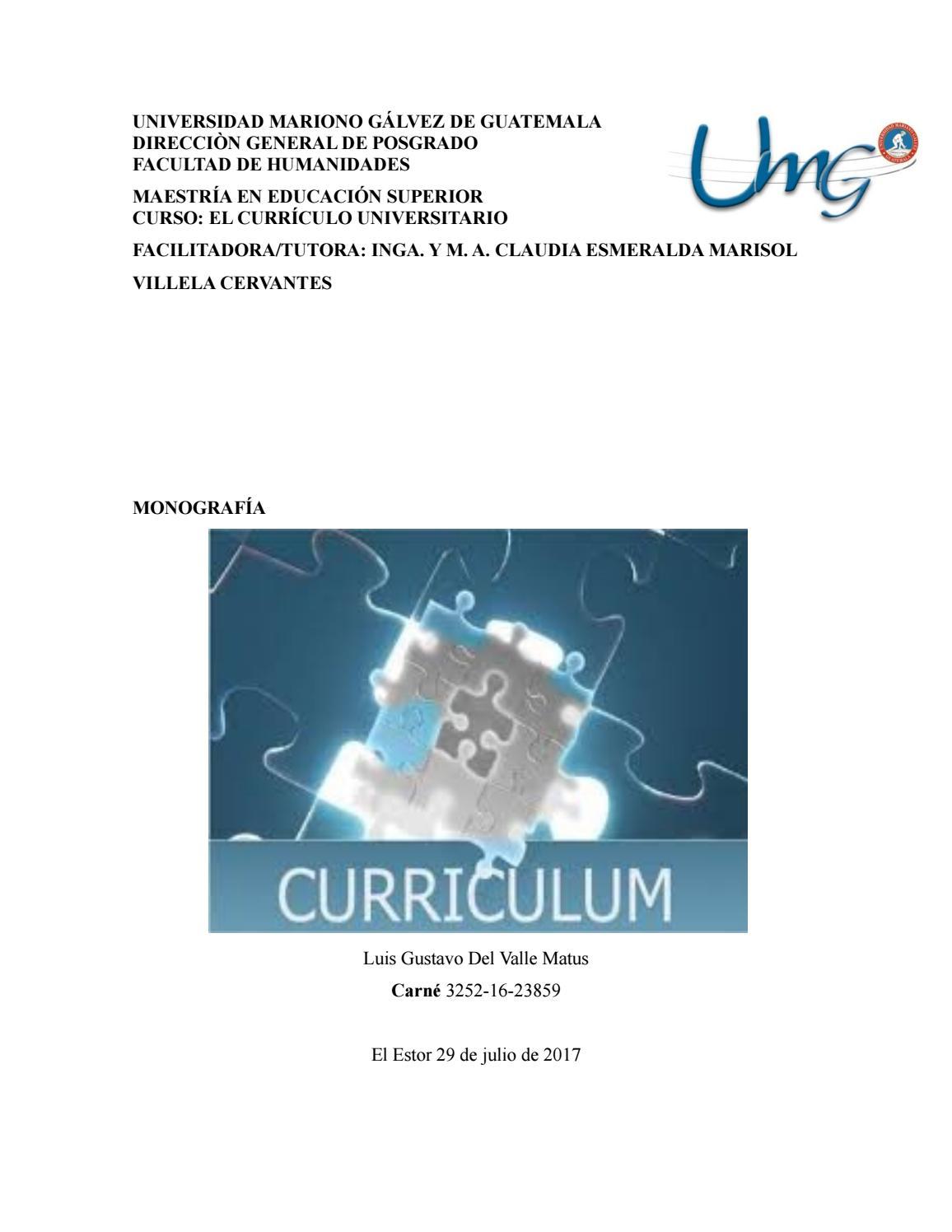 Monografia curriculum by Luis Del Valle - issuu
