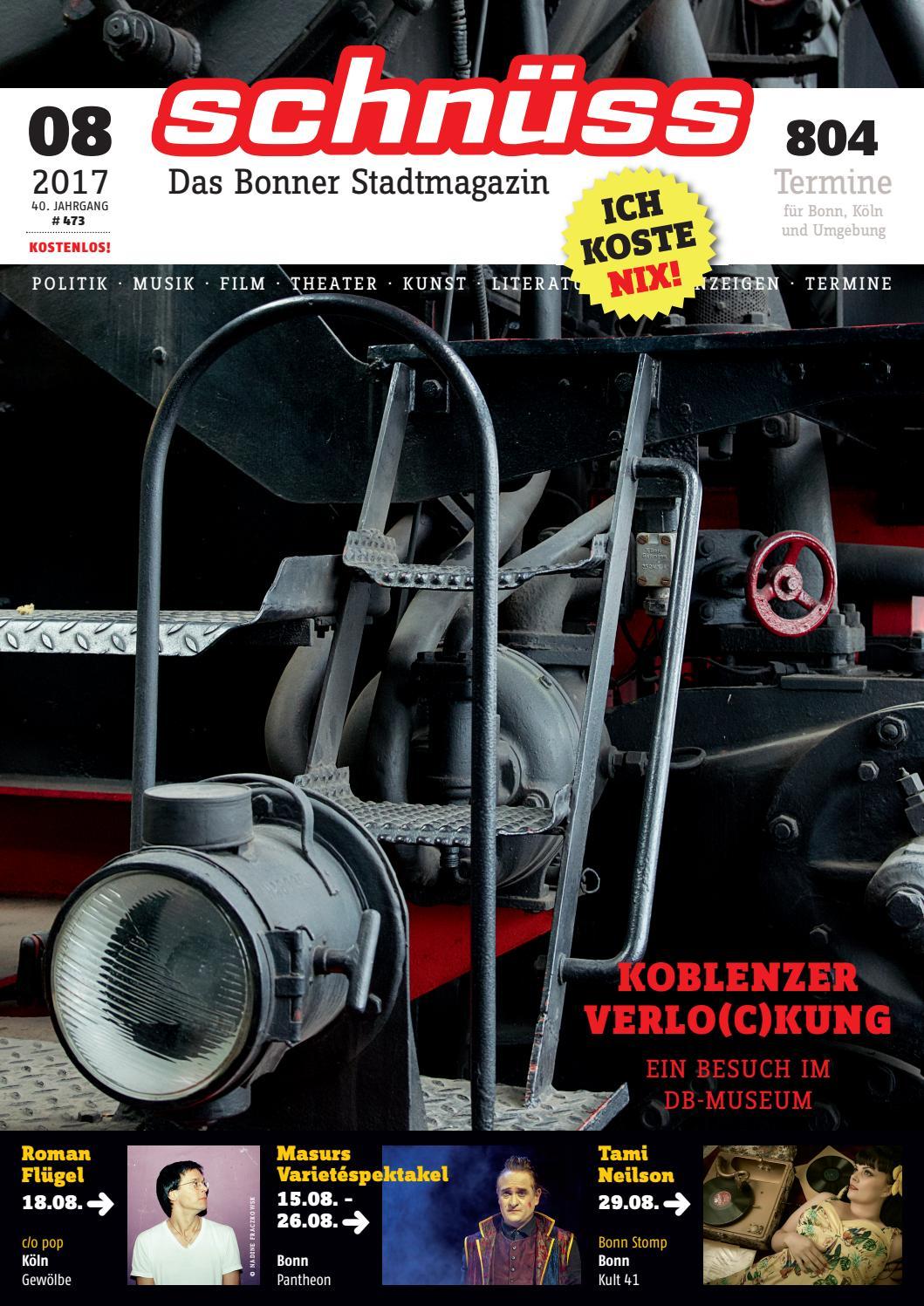 c3cdce2fc03bf7 Schnüss 2017 08 by Schnüss - Das Bonner Stadtmagazin - issuu