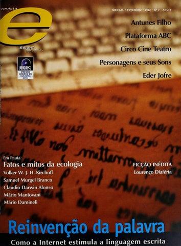 8a4cc4e385 Revista E - Fevereiro de 2002 - ANO 8 - Nº 7 by Sesc em São Paulo ...