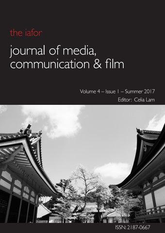 IAFOR Journal of Media, Communication & Film Volume 4 Issue