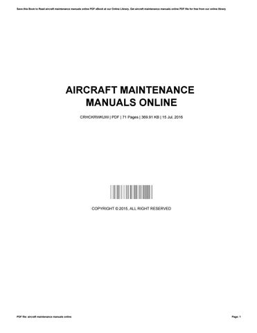 Aircraft maintenance manuals online by rickydolan1577 issuu save this book to read aircraft maintenance manuals online pdf ebook at our online library get aircraft maintenance manuals online pdf file for free from fandeluxe Choice Image