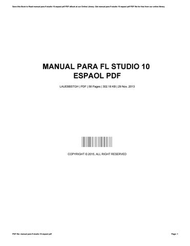 Fl Studio 10 User Manual Pdf