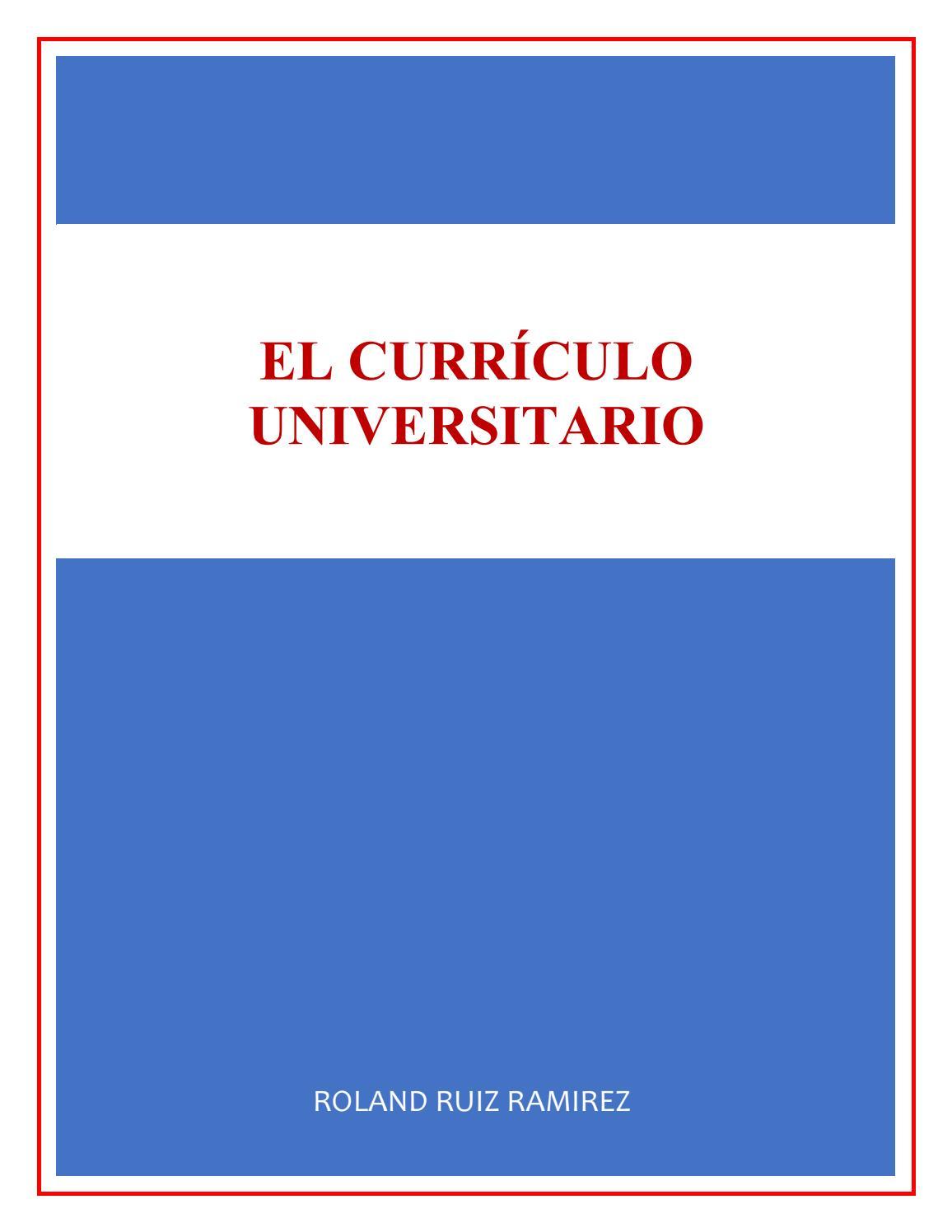 Monografía del Curriculo by Roland Ruiz - issuu
