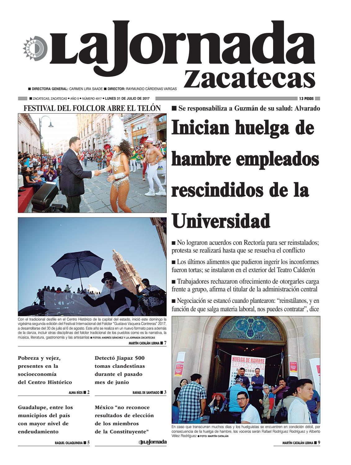 La Jornada Zacatecas Lunes 31 De Julio De 2017 By La Jornada  # Muebles Goitia Tijuana