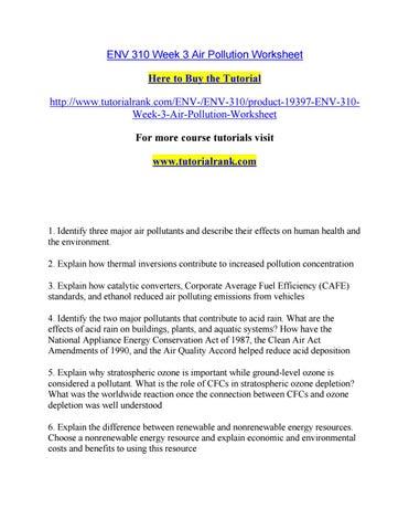 Env 310 week 3 air pollution worksheet by robertsonhunt8 - issuu