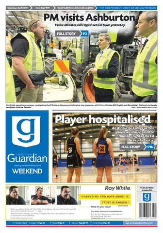 Ag 29 july, 2017 by Ashburton Guardian - issuu 5228ff33c5