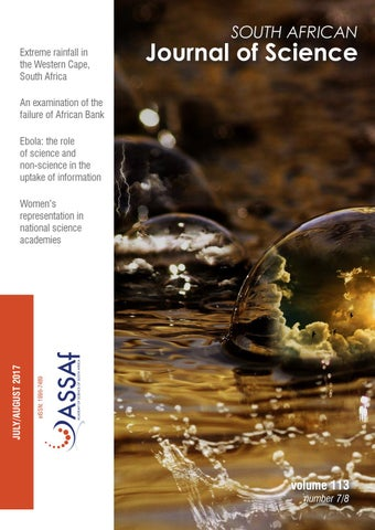 South African Journal of Science Volume 113 Issue 7/8 by South