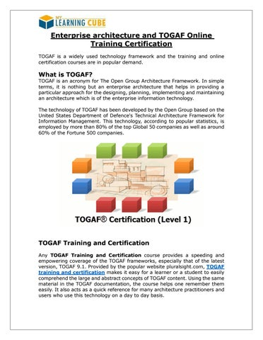 Enterprise architecture and TOGAF Online Training Certification by ...